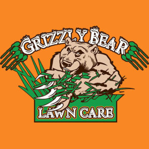 grizzly bear lawn care logo